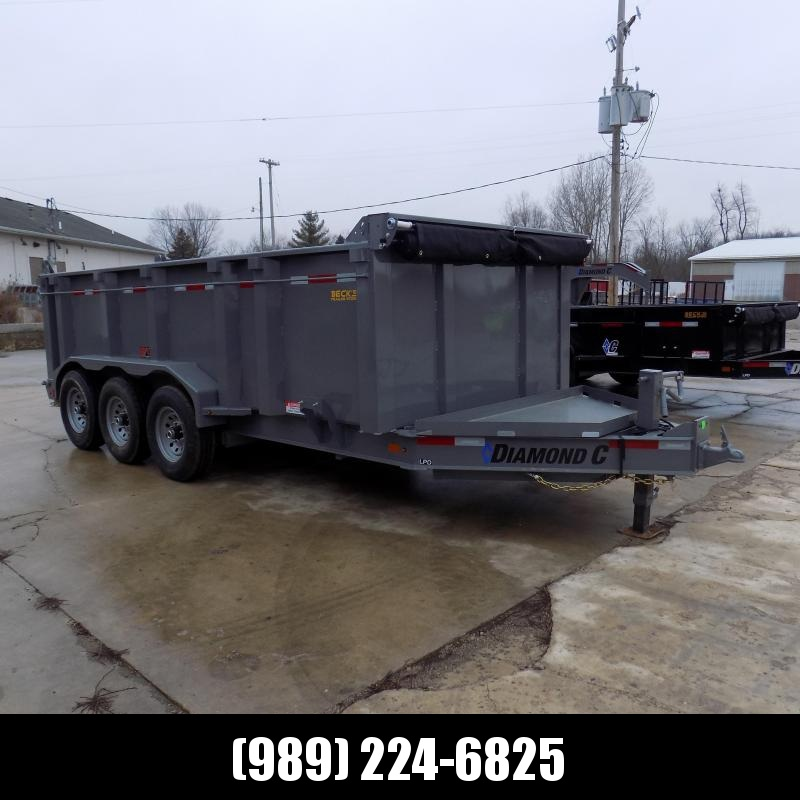 "New Diamond C 82"" x 16' Low Pro Dump Trailer - 19500 lb Payload Capacity! - $0 Down Financing Available"