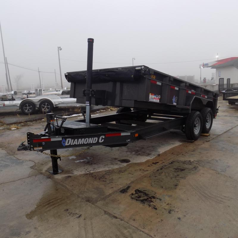"New Diamond C Trailers 82"" x 14' Low Profile Dump W/ Telescopic Lift - Payments from $139/mo. with $0 Down W.A.C."