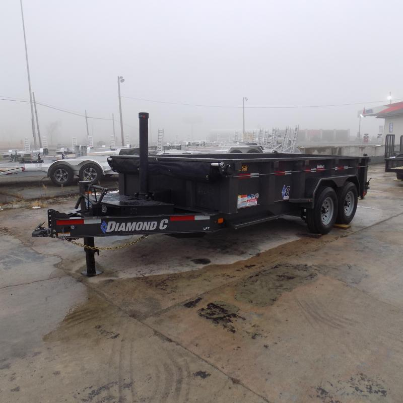 """New Diamond C Trailers 82"""" x 14' Low Profile Dump W/ Telescopic Lift - Payments from $139/mo. with $0 Down W.A.C."""