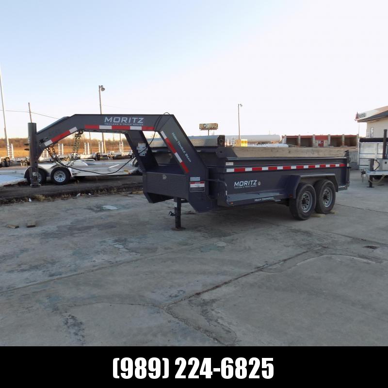 Used Moritz 7' x 14' Gooseneck Dump Trailer For Sale - New Trade