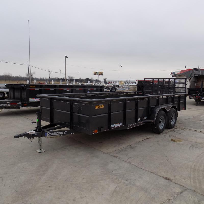 """New Diamond C 83"""" x 18' High Side Utility Trailer W/ 5200# Axles - $0 Down & Payments From $109/mo. W.A.C. - Best Deal Guarantee!"""
