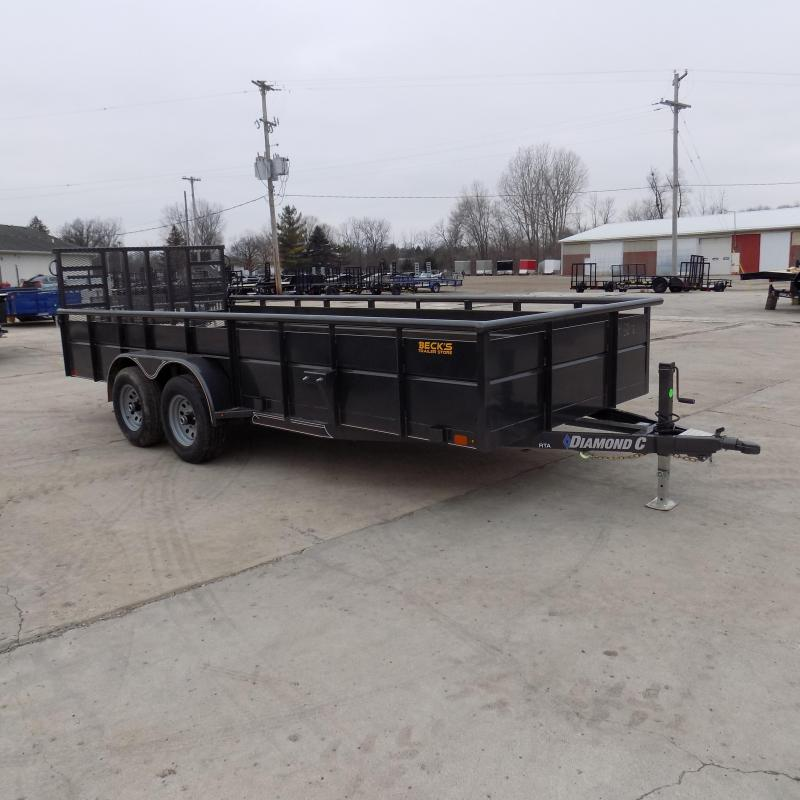 "New Diamond C 83"" x 18' High Side Utility Trailer W/ 5200# Axles - $0 Down & Payments From $109/mo. W.A.C. - Best Deal Guarantee!"