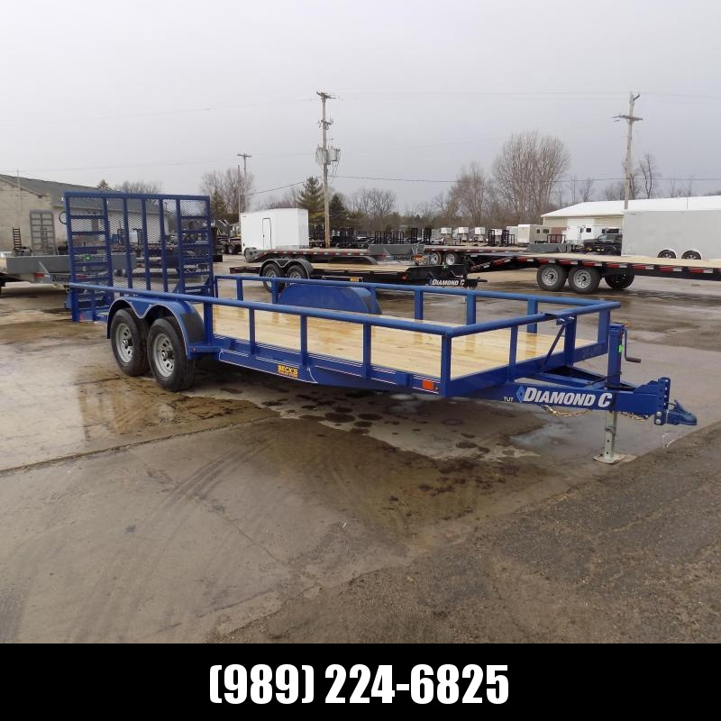 "New Diamond C Trailers 82"" x 20' Heavy Duty Utility / Landscape Trailer - $0 Down & Payments From $115/mo. W.A.C."