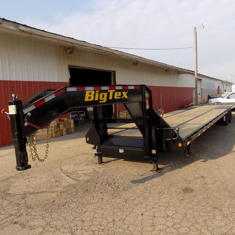 "New Big Tex 102"" x 35' + 5' Gooseneck Trailer with MEGA Ramps"