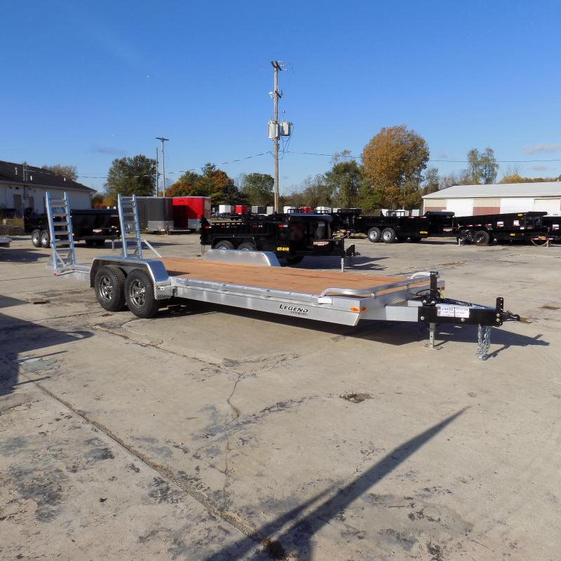 New Legend 7' x 22' Aluminum Equipment Trailer For Sale - Payment from $129/mo. with $0 Down W.A.C.