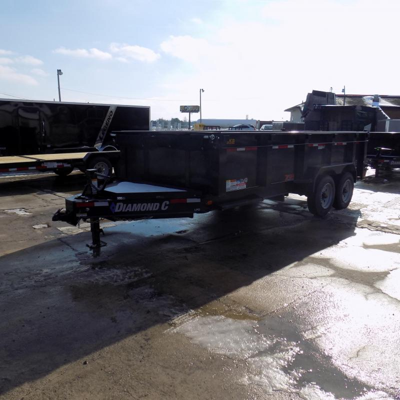 """New Diamond C 82"""" x 16' Low Pro Dump Trailer - 10K Axles - Payments From $159/mo. W.A.C."""