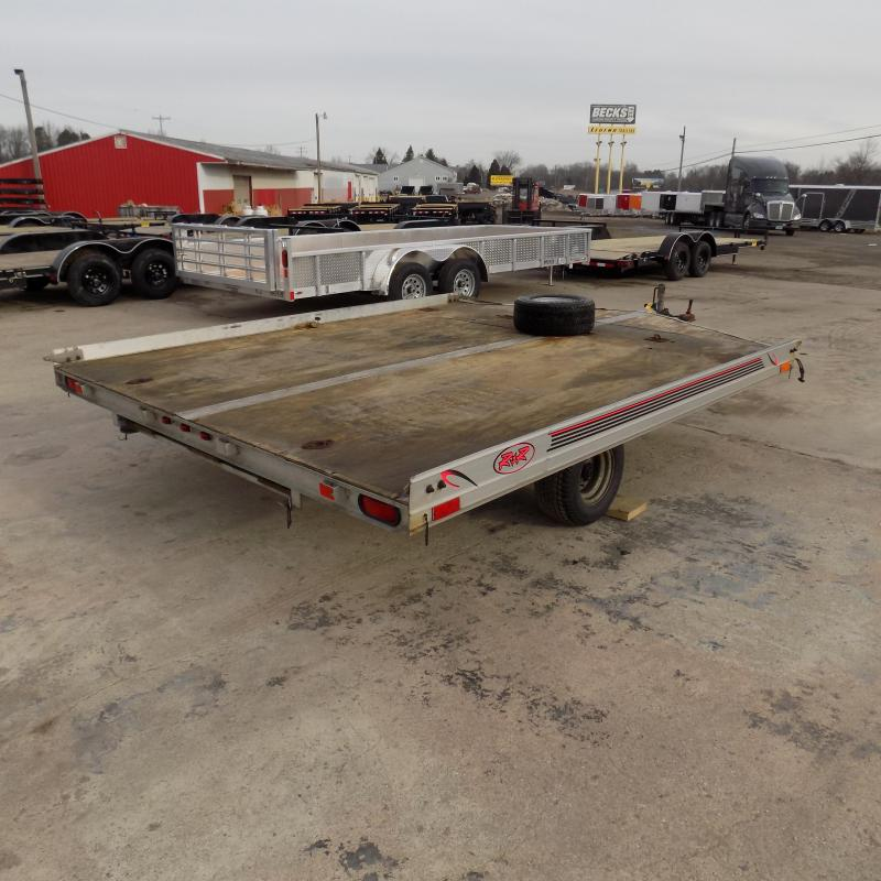 """Used R&R 102"""" x 10' Aluminum Snowmobile Trailer For Sale"""
