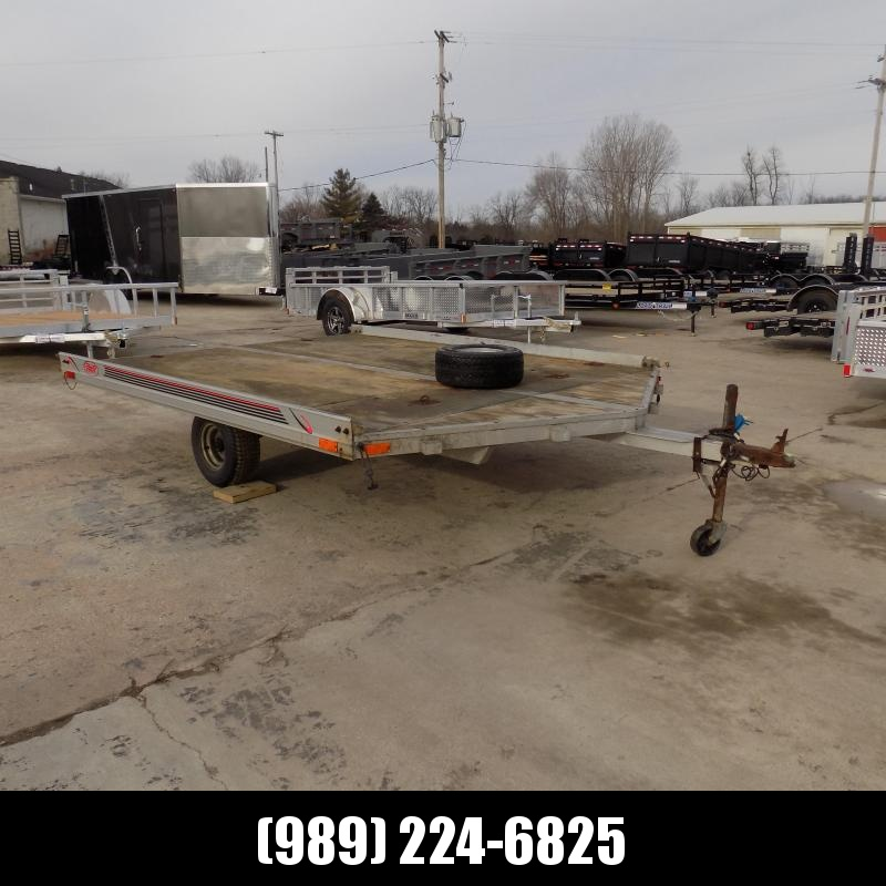 "Used R&R 102"" x 10' Aluminum Snowmobile Trailer For Sale"