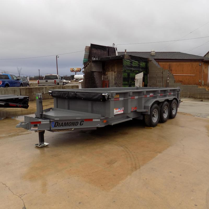 """New Diamond C 82"""" x 16' Low Pro Dump Trailer - 19,500 lb Payload Capacity! - Payments From $149/mo. W.A.C."""