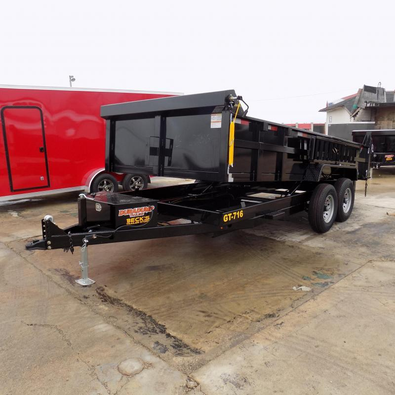 New DuraDump 7' x 16' Dump Trailer For Sale - $0 Down & Payments From $135/mo. W.A.C.