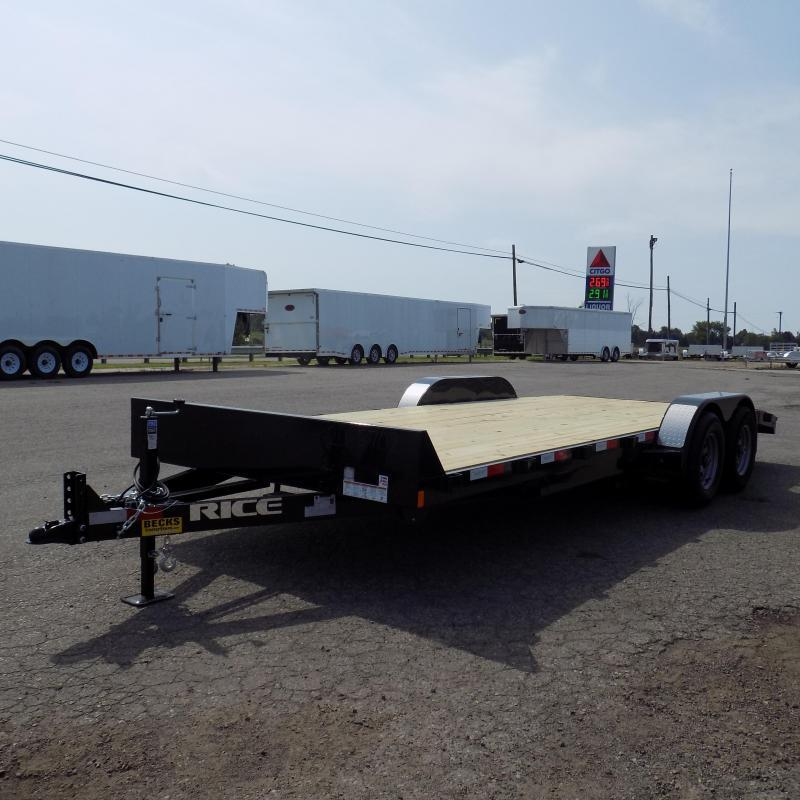 "New Rice Trailers 82"" x 20' Open Car Hauler With 5200# Axles"