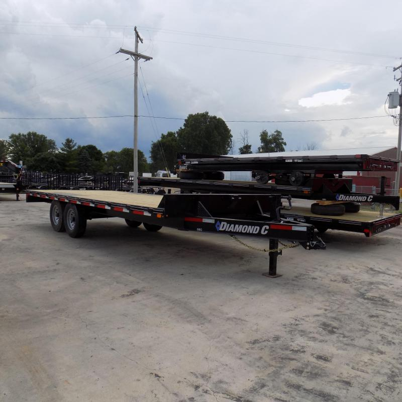 "New Diamond C Trailers 102"" x 20' Deckover Equipment Trailer W/ 7K Torsion Axles"