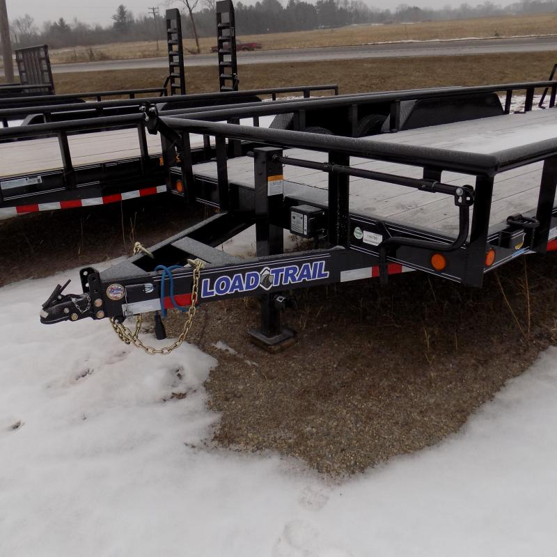 """New Load Trail 83"""" x 18' Open Car Hauler With 7K Axles"""