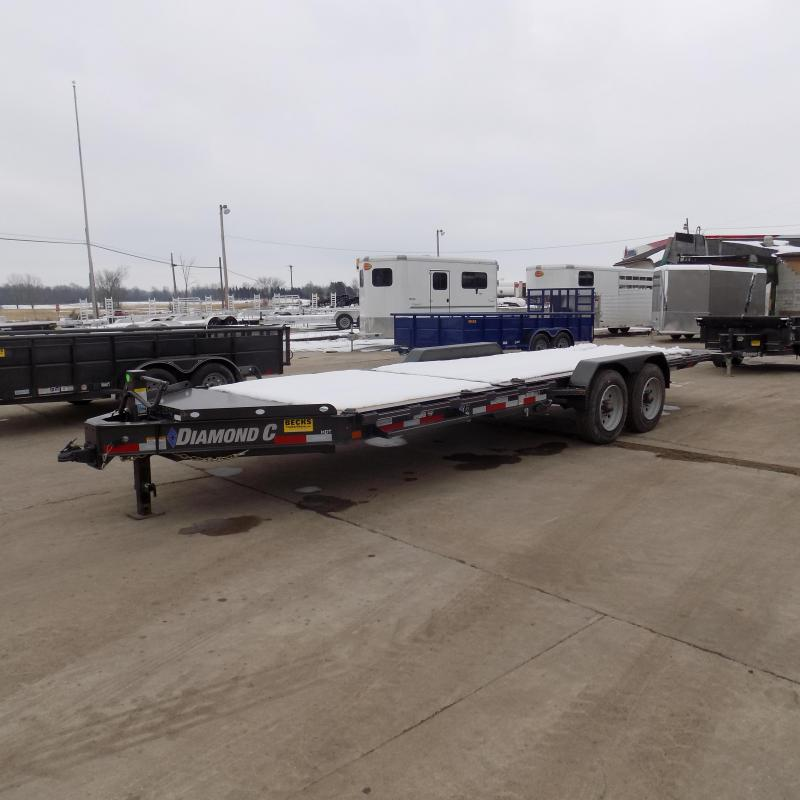 """New Diamond C Trailers 82"""" x 22' Heavy-Duty Tilt Deck Equipment Trailer - 10K Axles - $0 Down & Payments from $157/mo. W.A.C."""