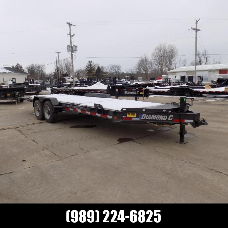 "New Diamond C Trailers 82"" x 22' Heavy-Duty Tilt Deck Equipment Trailer - 10K Axles - $0 Down & Payments from $157/mo. W.A.C."
