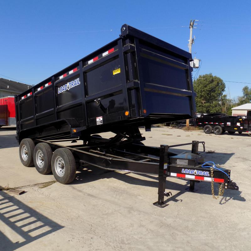 "New Load Trail 83"" x 16' Triple Axle Dump Trailer w/ 48"" Sides"