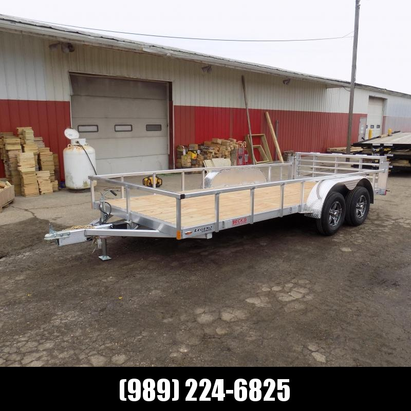 New Legend Open Deluxe 7' x 16' Aluminum Utility  - $0 Down & Payments From $89/mo. W.A.C.