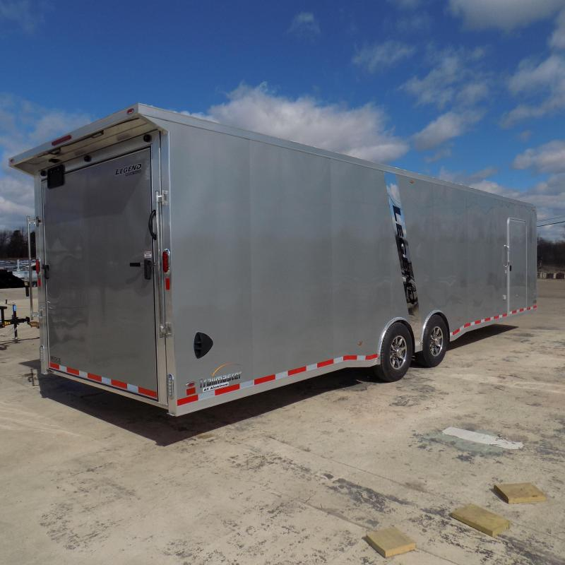 New Legend Trailmaster 8.5' x 32' Aluminum Race Series W/ 7000# Torsion Axles & Escape Door - $0 Down Financing Available