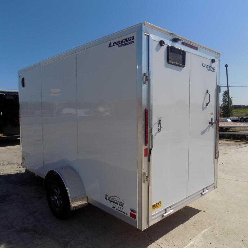 New Legend Explorer 6' x 13' Aluminum Enclosed Cargo Trailer for Sale - Payments from $75/mo. W.A.C