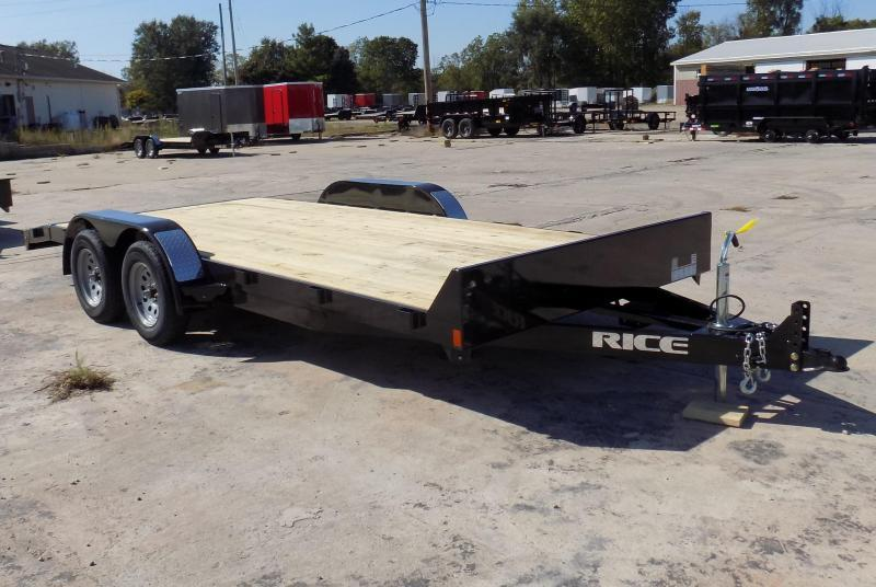 "New Rice Trailers 82"" x 18' Open Car Hauler - Payments from $69/mo. W.A.C - Best Deal Guarantee"