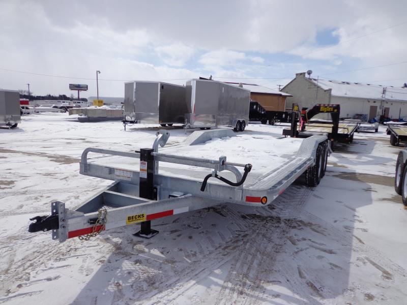 """New Galvanized 102"""" x 20' Equipment Trailer - Galvanized Steel Deck"""