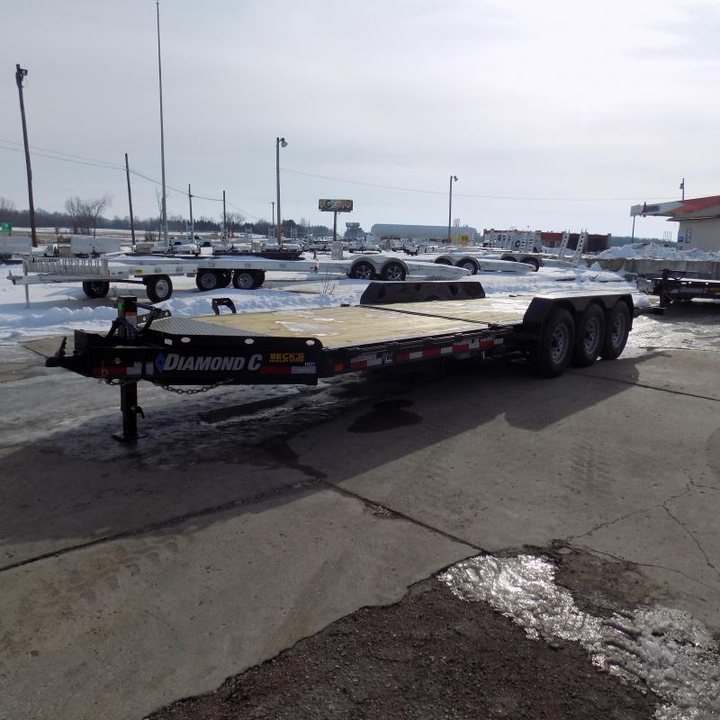 "New Diamond C Trailers 82"" x 24' Heavy-Duty Tilt Deck Equipment Trailer - Nearly 20K Payload Capacity - $0 Down & Payments from $133/mo. W.A.C."