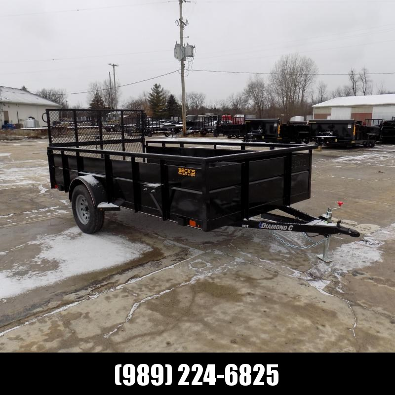"""New Diamond C Trailers 77"""" x 12' Utility Trailer For Sale - $0 Down & Payments From $63/mo. W.A.C."""