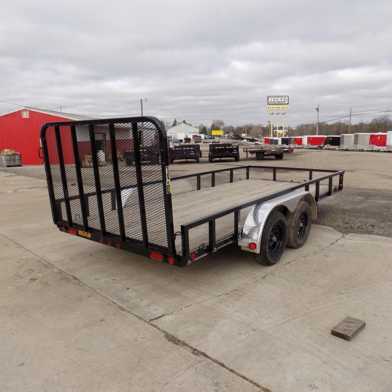 "New Load Trail UT 83"" x 16' Open Utility Trailer for Sale - $0 Down & Payments $77/mo. W.A.C"
