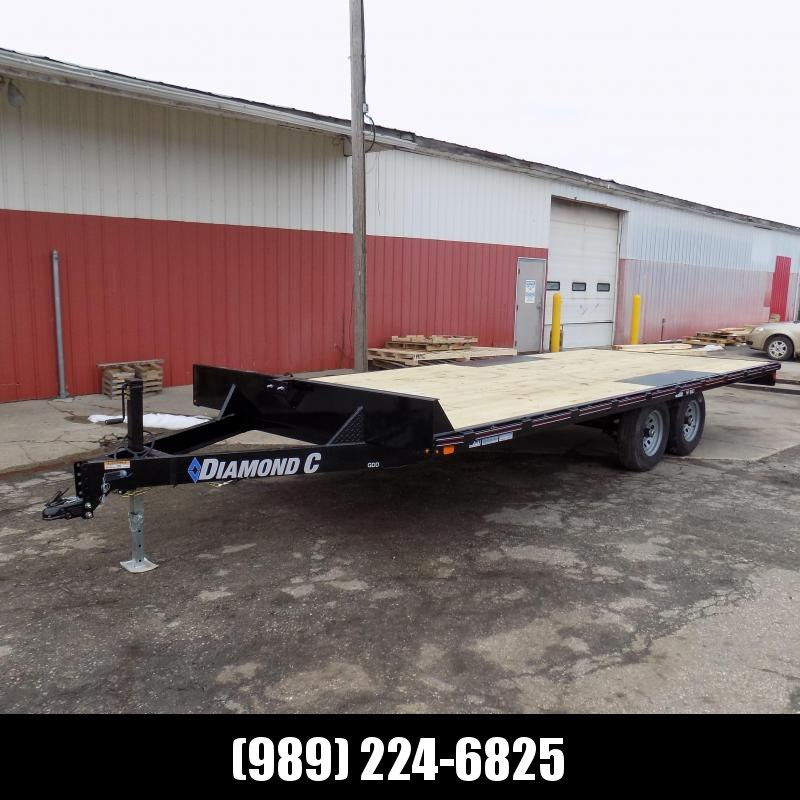 """Diamond C Trailers 102"""" x 20' Deckover Equipment Trailer For Sale - $0 Down & Payments From $129/mo. W.A.C."""