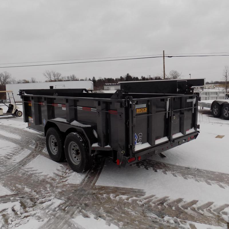 "New Diamond C Trailers 82"" x 14' Low Profile Dump W/ Telescopic Lift - Payments from $145/mo. with $0 Down W.A.C."