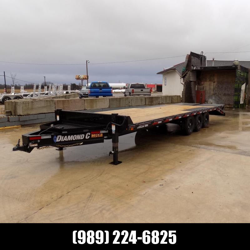 "New Diamond C Trailers 102"" x 26' Triple Axle Deckover Equipment Trailer W/ 24K Weight Rating - Payment From $129/mo. With $0 Down W.A.C."