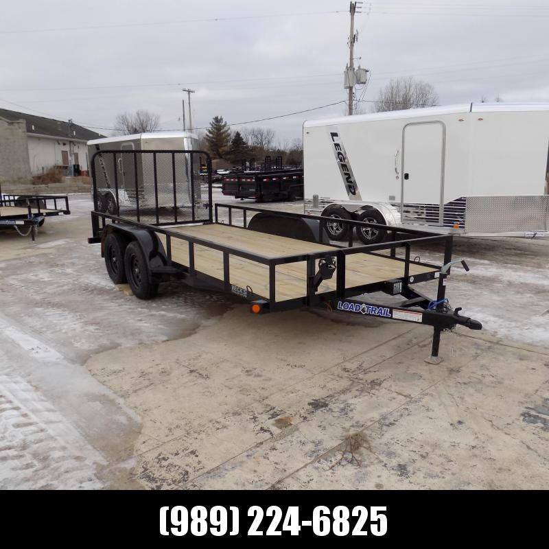 "New Load Trail UT 83"" x 16' Tandem Axle Open Utility Trailer for Sale - $0 Down & Payments $69/mo. W.A.C"
