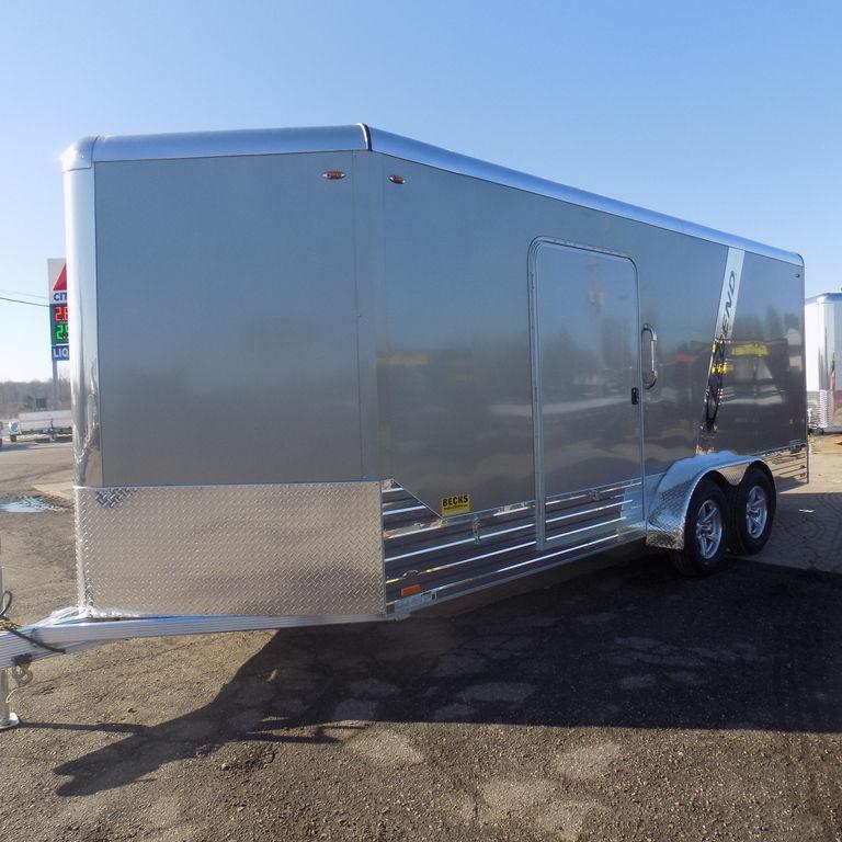 New Legend Deluxe 7' x 21' Aluminum Enclosed Cargo For Sale