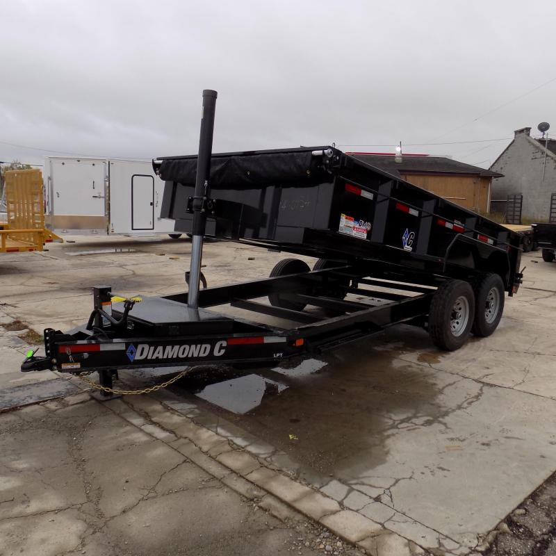 "New Diamond C Trailers 82"" x 14' Low Profile Dump Trailer W/ Telescopic Lift - Payments from $137/mo. with $0 Down W.A.C."