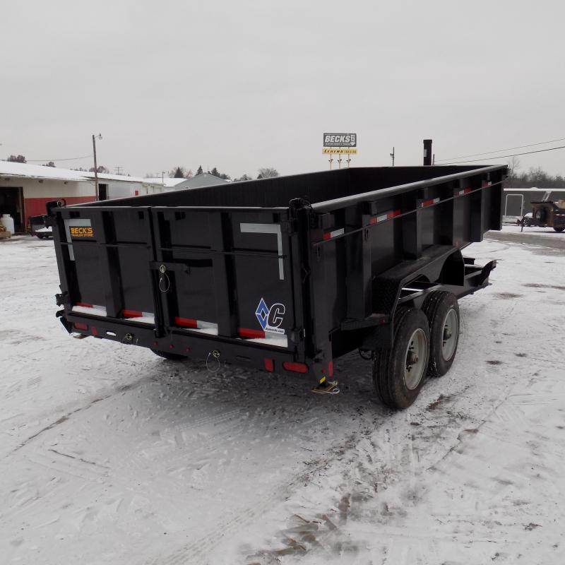 "New Diamond C Trailers 82"" x 16' Low Profile Dump Trailer W/ 10K Axles - Payments from $165/mo. with $0 Down W.A.C."