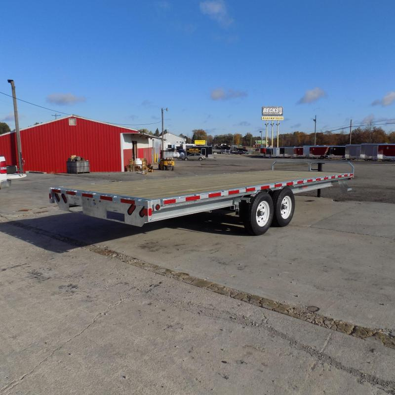 "New Galvanized 102"" x 24' Deckover Equipment Trailer - $0 Down & Payments From $139/mo. W.A.C."