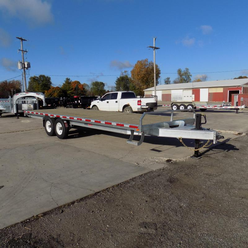"""New Galvanized 102"""" x 24' Deckover Equipment Trailer - $0 Down & Payments From $139/mo. W.A.C."""