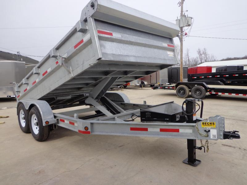 "New Galvanized 83"" x 14' Dump Trailer For Sale"
