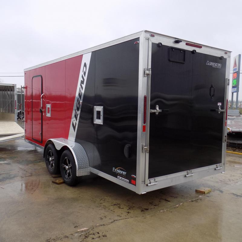 New Legend Explorer 7' x 23' Snowmobile Trailer - $0 Down & Payments From $129/mo. W.A.C - Guaranteed Best Deal