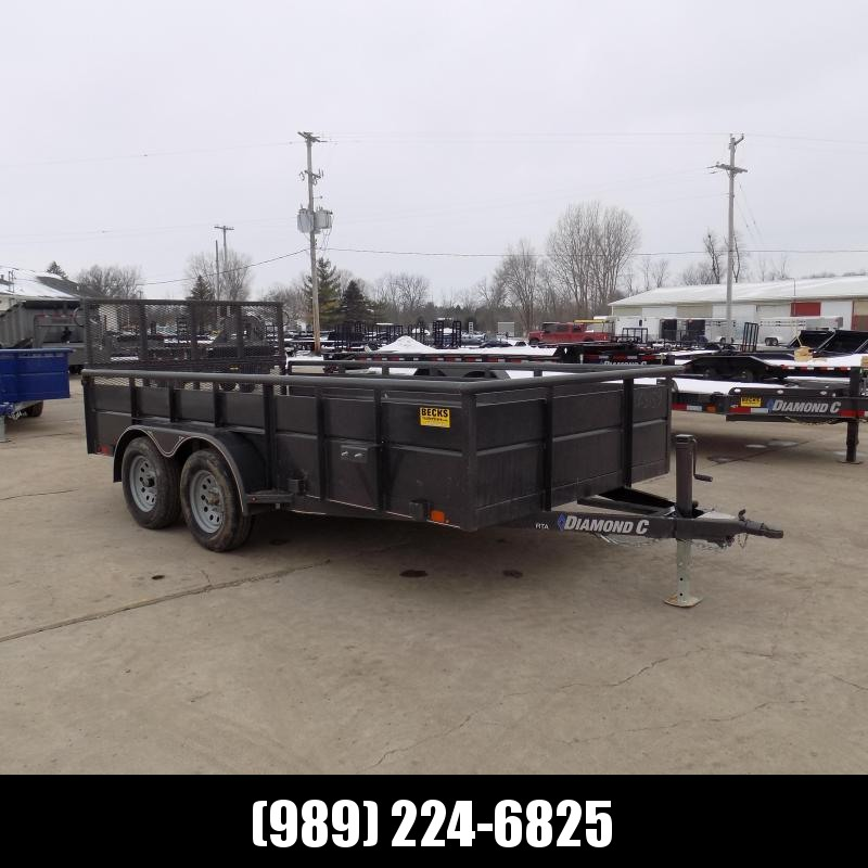 "New Diamond C 83"" x 14' High Side Utility Trailer - $0 Down & Payments From $99/mo. W.A.C. - Best Deal Guarantee!"