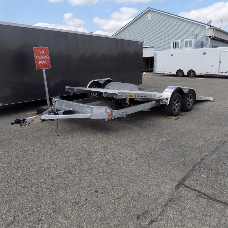 All New Legend 7' x 20' Aluminum Tilt Deck Open Car Hauler - Ramp Free Loading