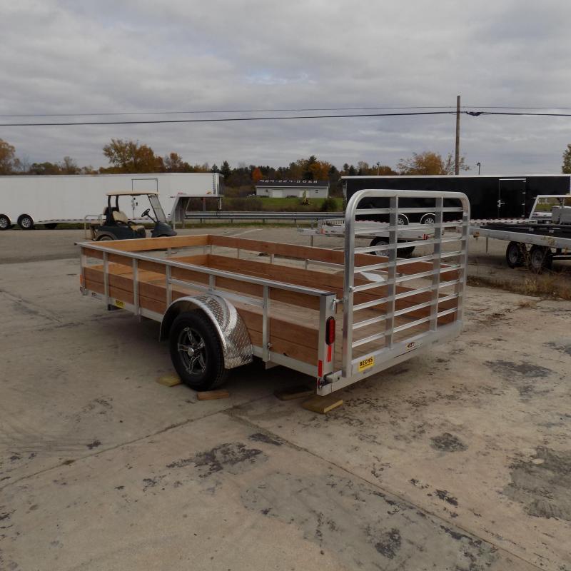 Used 2019 Legend 6' x 12' 3 Board High Side Aluminum Utility Trailer - Like New!