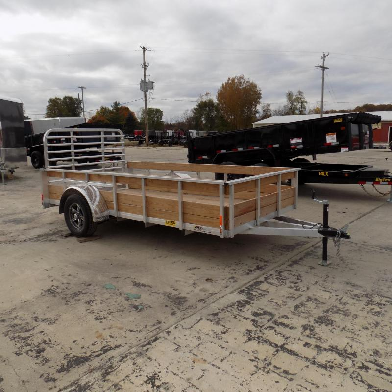 Used 2019 Legend 6' x 12' 3 Board High Side Aluminum Utility Trailer - Like New!