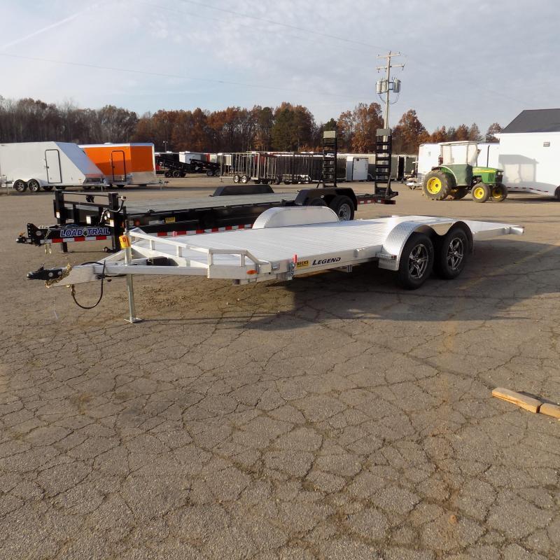 Used 2020 Legend 7' x 20' Aluminum Tilt Deck Car Hauler - 2020 Model Used Only 1 Time!