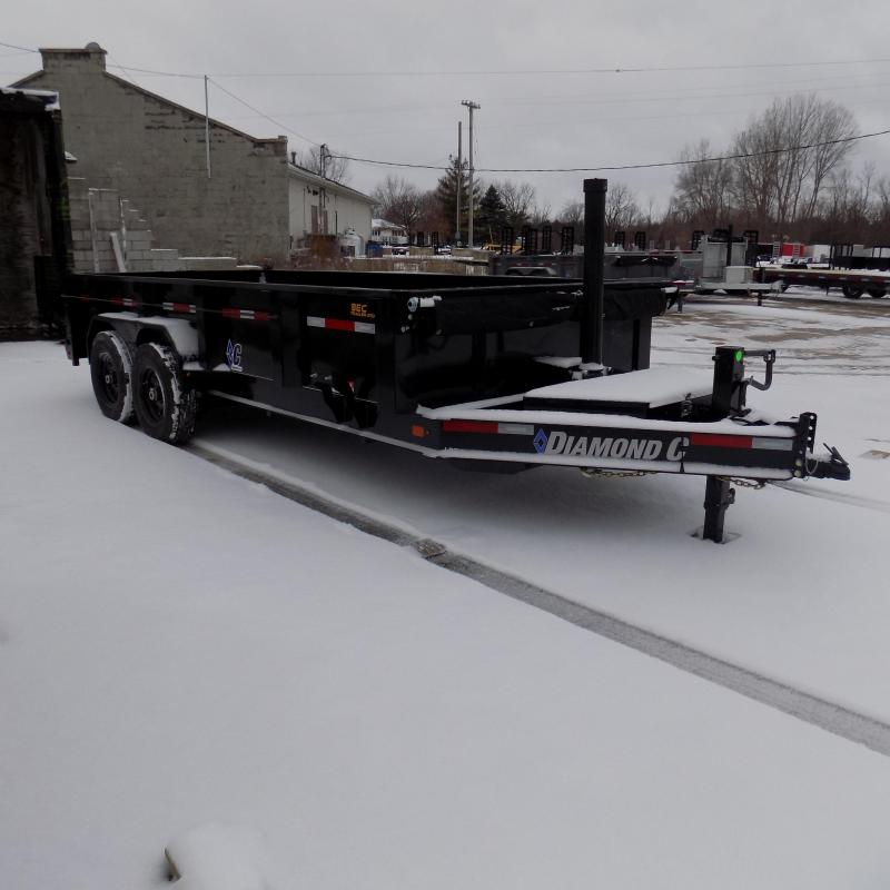 """New Diamond C Trailers 82"""" x 16' Low Profile Dump W/ Telescopic Lift - Payments from $145/mo. with $0 Down W.A.C."""
