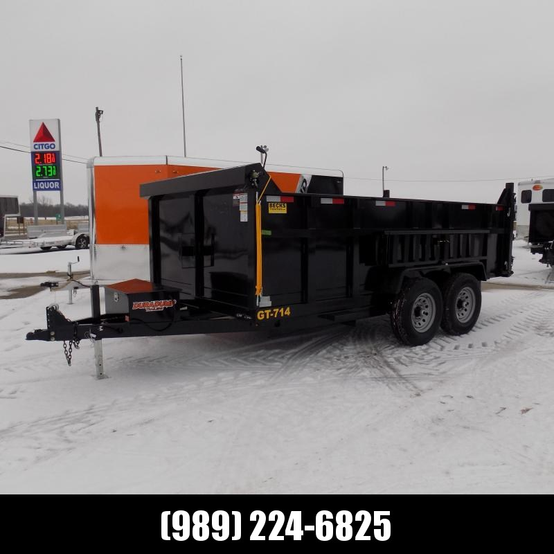 """New DuraDump 7' x 14' Dump Trailer 36"""" High Sides For Sale - $0 Down & Payments From $139/mo. W.A.C."""