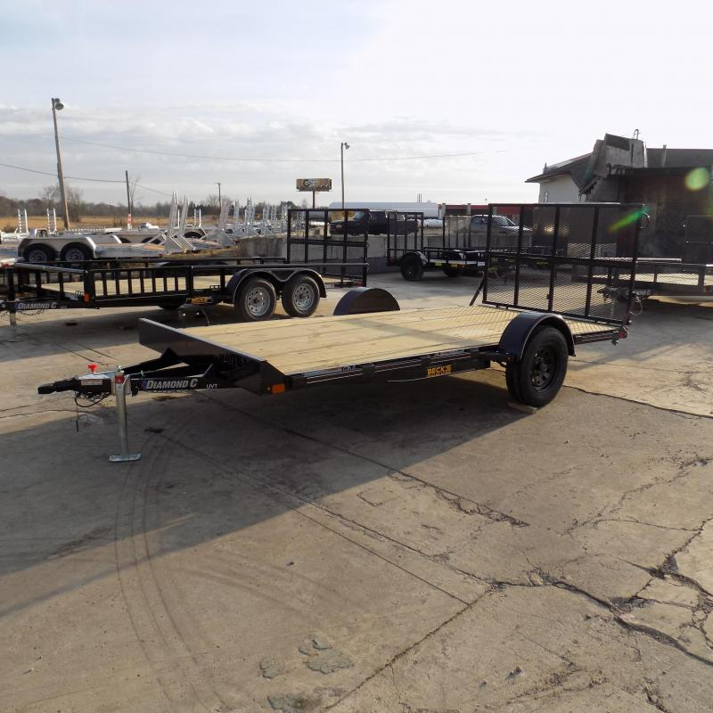 "New Diamond C Trailers 77"" x 14' UTV / Utility Trailer - Perfect UTV Trailer - Easy To Use Bi-Fold Ramp Gate"