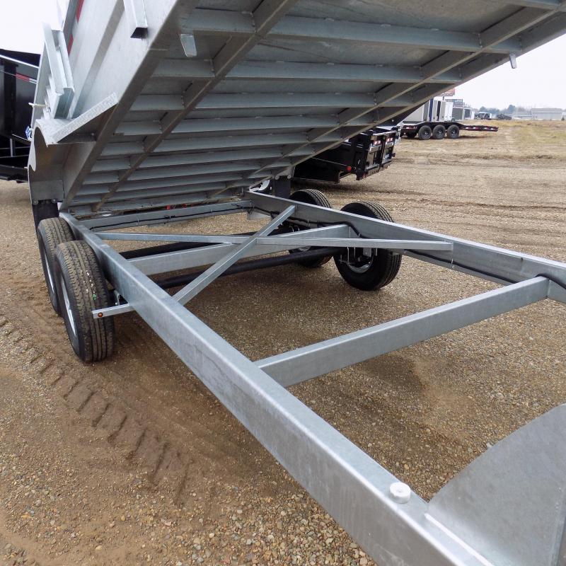 "New Galvanized 80"" x 16' Gooseneck Dump Trailer with 24K Telescopic Lift - Corrosion Resistant - $149/mo. W.A.C."