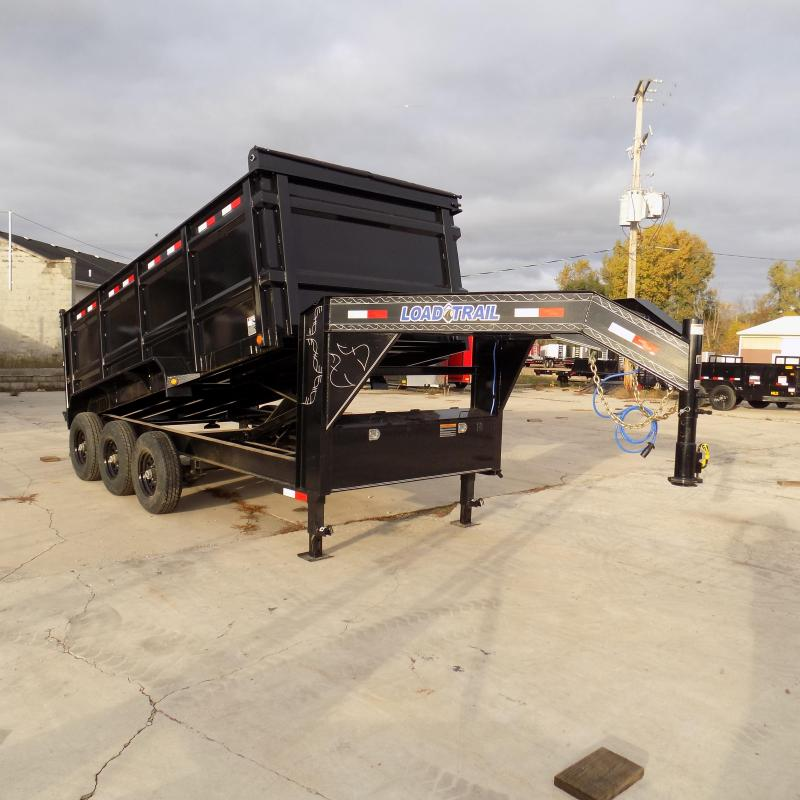 "New Load Trail 83"" x 16' Triple Axle Gooseneck Dump Trailer w/ 48"" Sides - Payments from $175/mo. with $0 Down W.A.C."