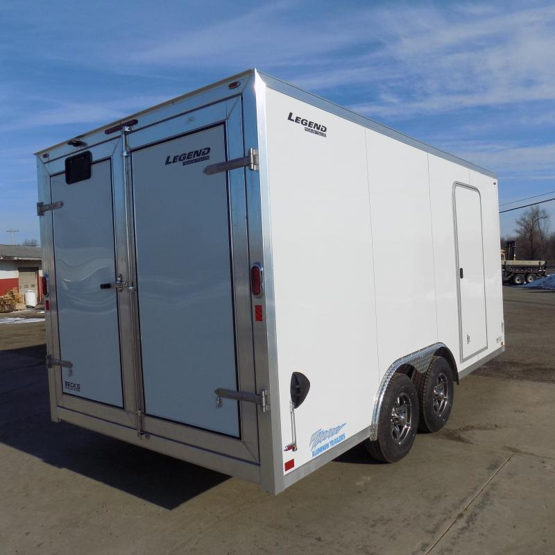 New Legend Thunder 8.5' X 18' All Aluminum Enclosed Cargo Trailer-$0 Down Payments From $123/mo W.A.C.